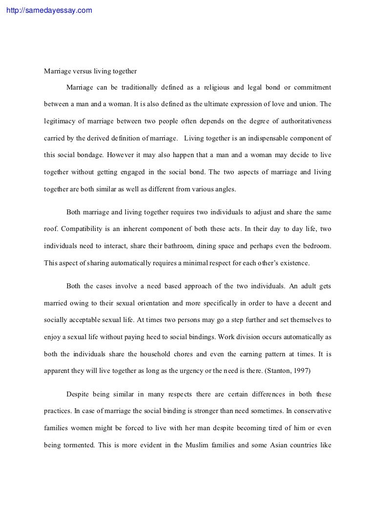 Marriage essay papers