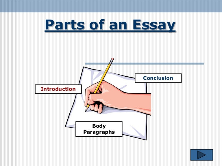 [PPT]The Three Parts of an Essay