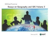 Essays on Geography and GIS, Vol. 3