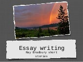 Essays for short stories