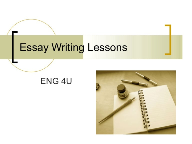 4 Types Of Essay Writing