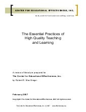 Essential Practices Of High Quality...
