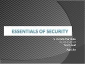 Essentials Of Security