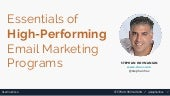 Essentials of high performing email marketing programs