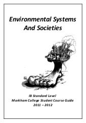 Ess student course guide