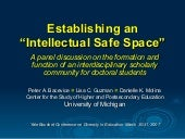 Establishing an intellectual safe s...
