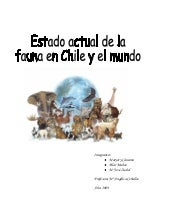 Estado actual de la fauna en chile ...
