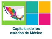 Estados y capitales de mexico