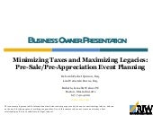 Estate Planning For The Business Ow...