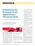 Estimating the Principal of an Applications Technical Debt