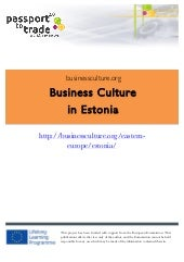 Estonian business culture guide - L...