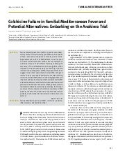 Colchicine failure in Familial Mediterranean Fever and potential alternatives: embarking on the anakinra trial
