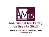 Estudio inversión en marketing 2012