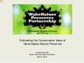 Socio-economic Valuation of Natural...
