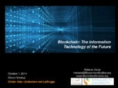 Blockchain: The Information Technology of the Future