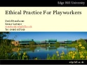 Ethical practice for playworkers