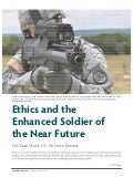Ethics and the Enhanced Soldier of the Near Future