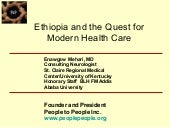 Ethiopia and the quest for modern h...
