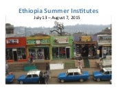 Tulane Payson Center for International Development: 2015 Ethiopia Global Development Summer Institute