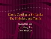 Ethnic conflict in sri lanka