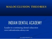 Etiological basis of malocclusion t...