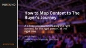 HOW TO MAP CONTENT TO THE BUYER'S JOURNEY & THE MARKETER'S FUNNEL [INBOUND 2014]