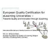 E-Learning Quality in Higher Educat...