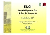 Solar PV - Environmental Due Diligence