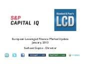January 2013, European Leveraged Lo...