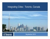 Integrating Cities, Toronto