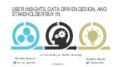 User Insights, Data Driven Design, and Stakeholder Buy In