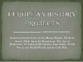 European History Projects