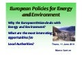 European policies for_energy_and_environment