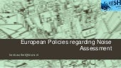 European policies regarding noise a...