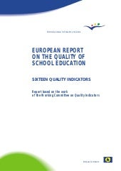European report on quality educatio...