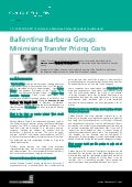 Ballentine Barbera Group: Minimising Transfer Pricing Costs