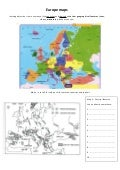 Europe Maps with online quizzes