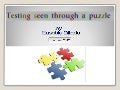 Eusebiu blindu - testing seen through a puzzle