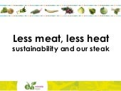 Eva vegetarianism and sustainability