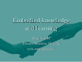 Eva Anttila Embodied Knowledge And ...