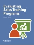 Sales White Paper: Evaluating Sales Training Programs
