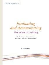 Evaluating and demonstrating the value of training