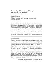 Evaluating Collaborative Filtering ...