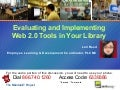 Evaluating and Implementing Web 2.0 Tools in Libraries