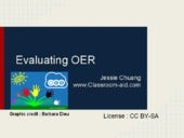 Evaluating OER
