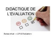 Evaluation   Cours 1