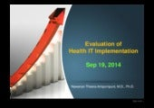 Evaluation of Health IT Implementation