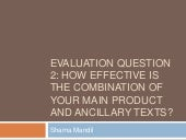 Evaluation question 2 sharna mandil