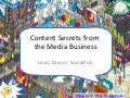 Content secrets from the media business