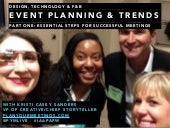 Event Planning & Trends: Design, Technology & Food & Beverage
